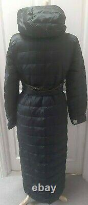 S MAX MARA cube packable Midnight blue Quilted down coat Size 8 UK 40 Ita