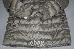 S Max Mara Quilted Down Button Belt Fur Trim Jacket Coat Womens EU36 IT40 UK8