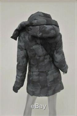 SAM. Camo Cruiser Hooded Down Coat Charcoal Size Medium Long Puffer Jacket