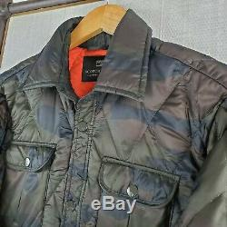 SCOTCH & SODA Amsterdam Medium Nylon Down Filled Camo Blaze Orange Jacket Coat