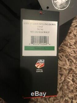 SPYDER US SKI TEAM LONG DOWN COAT BLACK SYRROUND WOMENS Lindsey Vonn