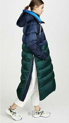 TORY BURCH/TORY SPORT Performance Satin Sleeping Bag Coat In Navy M/L
