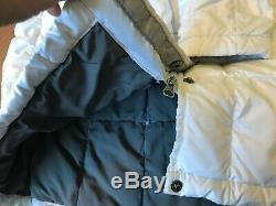 The North Face 600 Goose Down Coat Puffer Quilted Trench Long White Size L Large