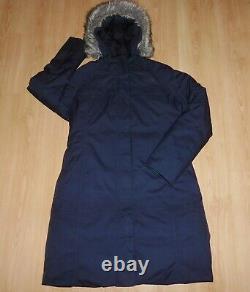 The North Face Arctic II 550 Down Navy Fur Hood Puffa Parka Coat Jacket L 12 14