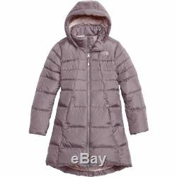 The North Face Girl's Goose Down Parka Coat Water Repell XLRG /18 Quail Gray NWT