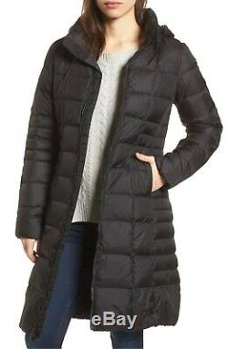 The North Face Metropolis 550 Down Long Quilted Coat Parka Black Size XS