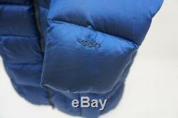 The North Face Metropolis 550 Down Long Quilted Coat Parka Blue Size Medium M
