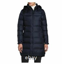 The North Face Metropolis III 550 Down Long Quilt Coat Parka Blue Size Small