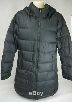 The North Face Metropolis III Down Long Quilted Coat Parka Black Size Large