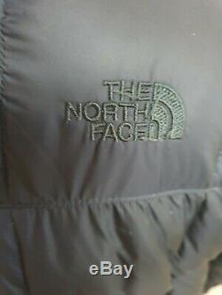 The North Face Navy Down Filled Puffer Long Coat Size Xl Uk 14