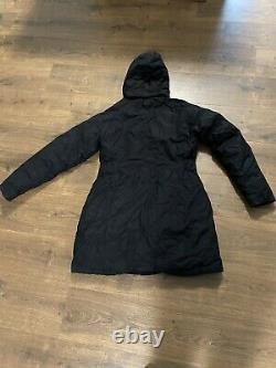 The North Face Size Large Dark Black Down Long Puffer Jacket Parka Coat £400 New
