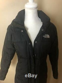The North Face Women Black Nylon Insulated Long Puffer Jacket Coat XS