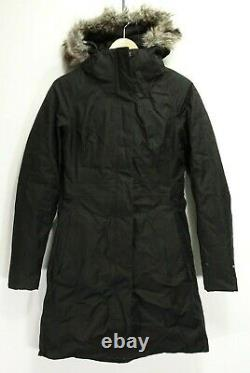 The North Face Womens 550 Down DryVent Black Arctic Parka Jacket Long Coat XS