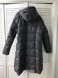The North Face Womens Gray Hooded Long Down Jacket Coat XXL