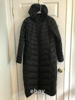 The North Face Womens Medium Black Extra Long Quilted 700 Down Coat
