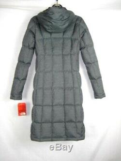 The North Face Womens Quilted Long Parka Coat Jacket Gray XS Metropolis $289