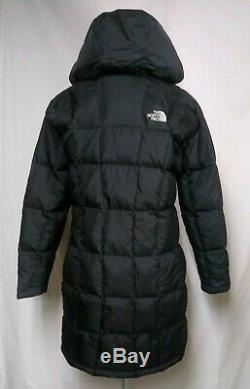 The North Face hooded 600 Goose Down long Coat Quilted Womens Sz M metropolis