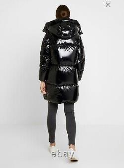 Tommy Hilfiger Palmer Shiny Puffer Coat, Down Coat, Woman, Black, Size XS