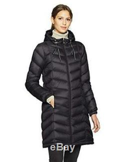 Tommy Hilfiger Quilted Hooded Packable Long Jacket Down Puffer Coat XL Black
