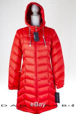 Tommy Hilfiger Quilted Hooded Packable Long Jacket Down Puffer Coat XL Red