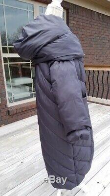 Tongeri Dusty Grayish Blue Long Blanket Puffer Coat Jacket Size 42 US 2-4