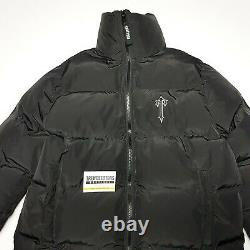 Trapstar Mens Long Black Puffer Jacket Coat Quilted Size M Medium L Large Mens