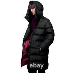 UNIQLO Jil Sander +J Light-Down Volume Long Hooded Coat Men's M Black & Red