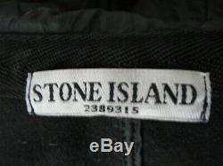 VTG 2010 Stone Island Long Quilted Coat M-40 Hood lined jacket Black 531541633