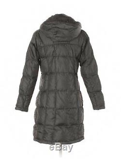 Women The North Face 600 Gray Winter Long Down Quilted Coat Parka Size XS