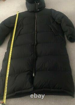 Women`s Arket long black puffer coat, size 42 (UK 14-16)