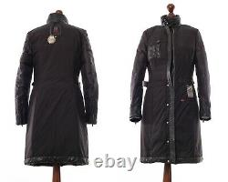 Women's BELSTAFF Coat Jacket Goose Down Puffer Asymmetrical Zip Black