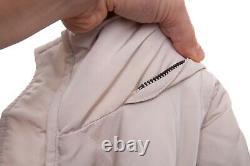 Women's BURBERRY LONDON Beige Belted Quilted Down Puffer Jacket Coat Size M