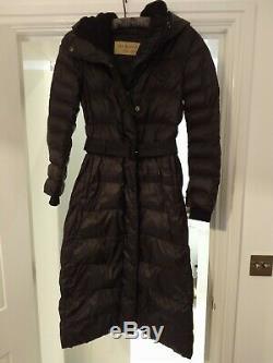Women's Black Burberry Long Puffer Coat Size XS