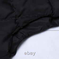 Women's Long Gilet Quilted Waistcoat Winter Warm Hooded Outerwear Jackets Coats
