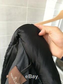 Women's MONCLER Black Long Puffer Down Coat Jacket Size 2