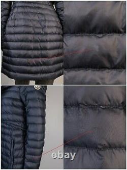 Women's Moncler Barbel 2013 Blue Lightweight Hooded Down Coat Jacket Size 2
