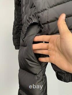 Women's Moncler Durace Gray Belted High Collar Puffer Down Coat Size 2/M