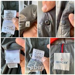 Women's Moncler Gray Hooded Puffer Down Coat Size 3