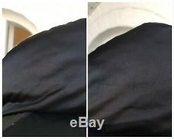 Women's Moncler Vintage Black Goose Down Coat Long Puffer Jacket Sz 2