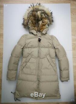 Women's Parajumpers Long Bear Down Parka Coat XS