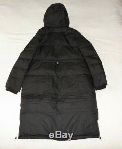 Womens Hollister by Abercrombie &Fitch Fleece Quilted Long Coat Jacket Size M, L