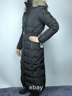Womens Michael Kors Down Puffer Jacket Bubble Long Parka Coat Black