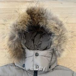Womens Moncler Khaki Puffer / Quilted Long Coat Brand New Size 6-8