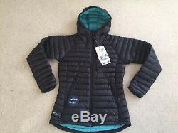 Womens Rab Microlight Alpine X Long Coat Size 10 BNWT