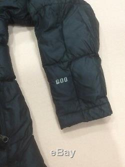 Womens The North Face 600 Black Winter Long Down Quilted Coat Parka Size S