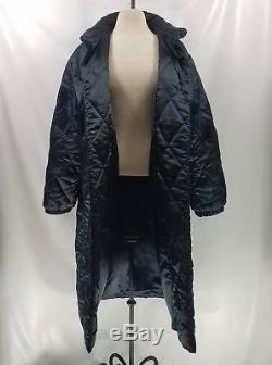 Ysl Yves Saint Laurent Women Puffer Coat 10 Long Quilted