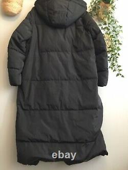 ZARA Black Feathers Down Extra-Long Water Repellent Puffer Coat XXL