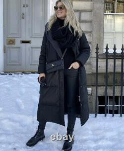 Zara AW21 Long down Puffer Coat Jacket with Water & Wind Protection Size M Black