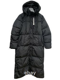 Zara Black Puffer High Collar Long Down Jacket Coat S 3046/253 Michelle Keegan