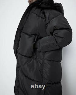 Zara Bnwt. Black Warm Maxi Long Puffer Coat Water Repellent Hood Xs-xl. 4391/704
